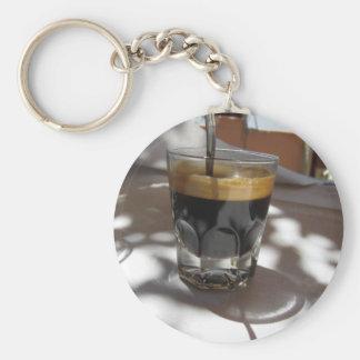 Espresso coffee with rum, sugar and lemon rind keychain