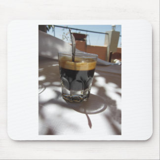 Espresso coffee with rum, sugar and lemon rind mouse pad