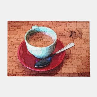Espresso Cup and Spoon Word Cloud Doormat