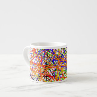 Espresso cup with colorful abstract design