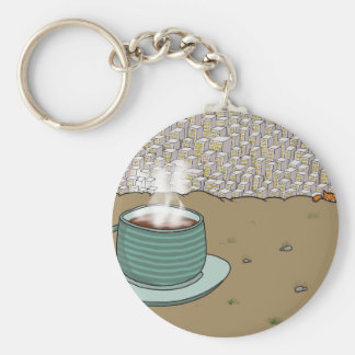 Espresso Hill Basic Round Button Keychain
