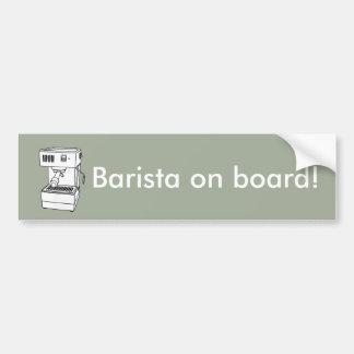 Espresso machine bumper sticker