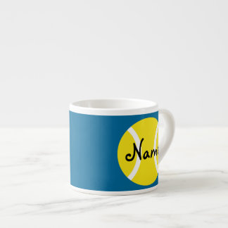Espresso Mug with customizable tennis ball