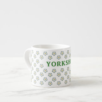 Espresso Mug - Yorkshire White Roses