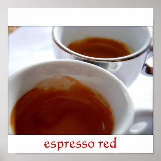 Espresso Red Poster