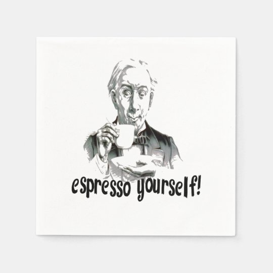 Espresso Yourself Disposable Napkins