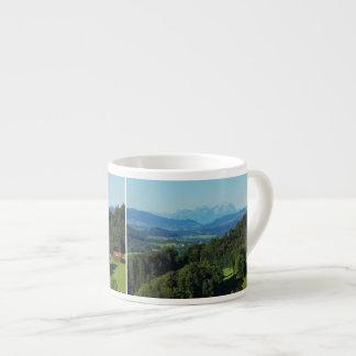 Espressotasse alpine panorama with Säntis
