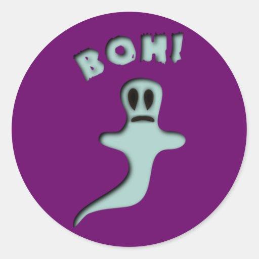 esprit fantôme halloween ghost boh autocollants ronds