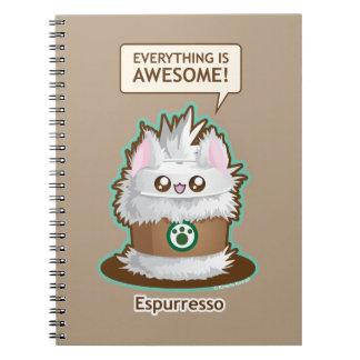 Espurresso: Cute Espresso Coffee Kitty Notebook