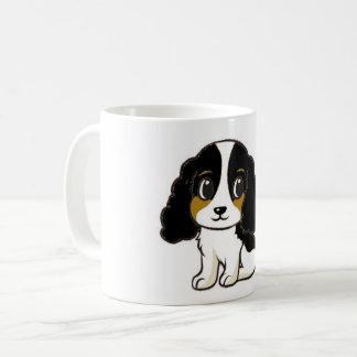 ess black white tan cartoon coffee mug