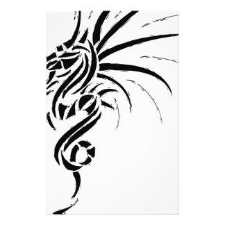 Essemios - furious dragon custom stationery