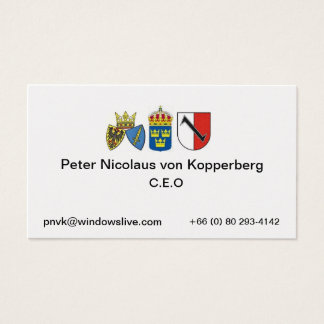essen 1, sweden, Peter Nicolaus ... Business Card