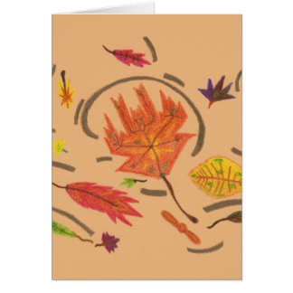 Essence of Autumn Leaves Thinking of You Card
