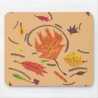 Essence of Autumn Swirling Leaves Mousepad