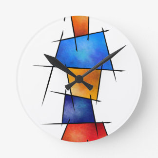 Esseniumos V1 - square abstract without back Wall Clocks
