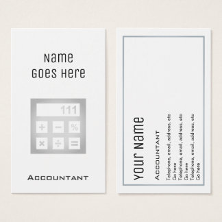 """""""Essential"""" Accountant Business Cards"""