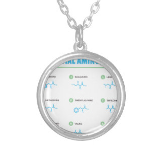 Essential Amino Acids Silver Plated Necklace