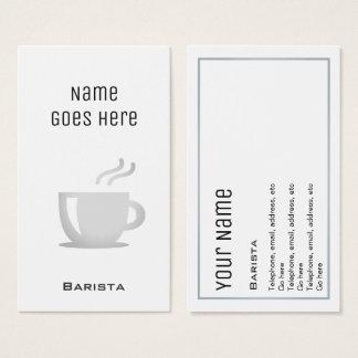"""Essential"" Barista Business Cards"