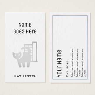 """Essential"" Cat Hotel Business Cards"
