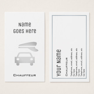 """""""Essential"""" Chauffeur Business Cards"""