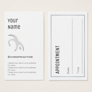 """Essential"" Chiropractor Appointment Cards"