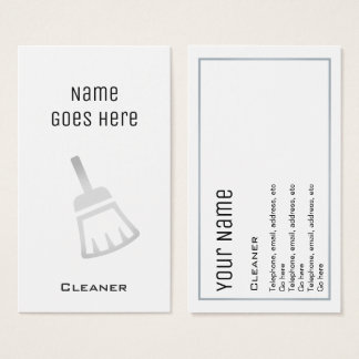 """""""Essential"""" Cleaner Business Cards"""