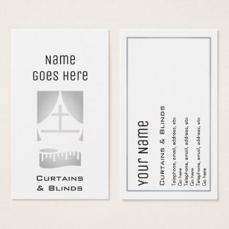 """Essential"" Curtains and Blinds Business Cards"