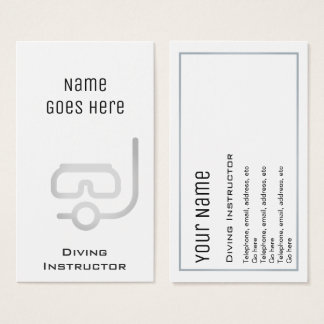"""Essential"" Diving Instructor Business Cards"