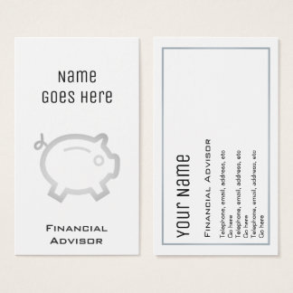 """Essential"" Financial Advisor Business Cards"