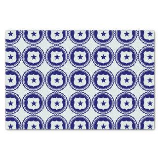 Essential • First Responder Blue Police Badge Tissue Paper