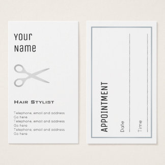 """""""Essential"""" Hair Stylist Appointment Cards"""