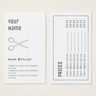 """Essential"" Hair Stylist Price Cards"