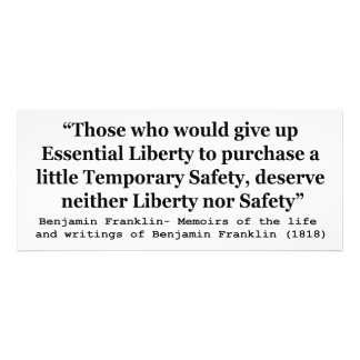 Essential Liberty and Temporary Safety Franklin Invitation