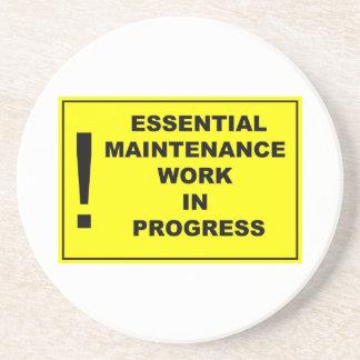 Essential maintenance work in progress coaster