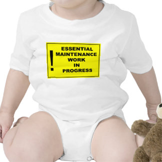 Essential maintenance work in progress tee shirt