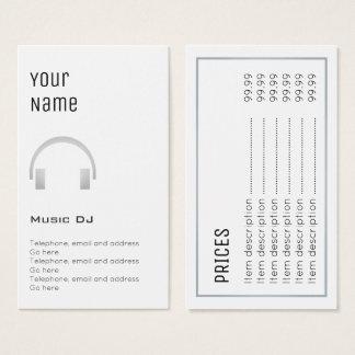 """Essential"" Music DJ Price Cards"