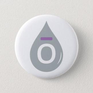 Essential oil drop 2 inch round button