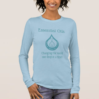 Essential Oil Drop Clever Quote Blue T-shirt