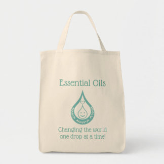 Essential Oil Drop Clever Quote Grocery Tote