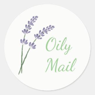 Essential oil envelope sticker matte