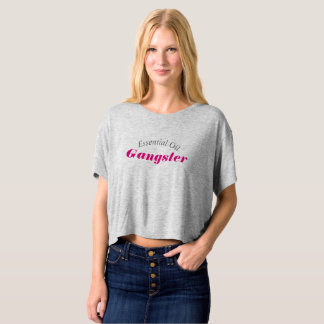 Essential Oil Gangster Crop T-shirt