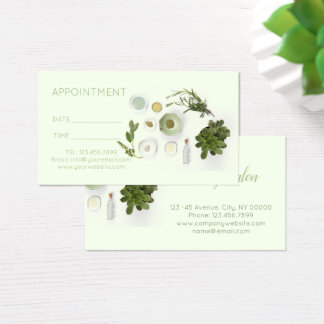 essential oil Massage SPA Aromatherapy Appointment Business Card