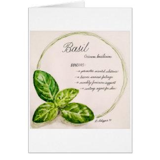 Essential Oil Watercolor Card - Basil