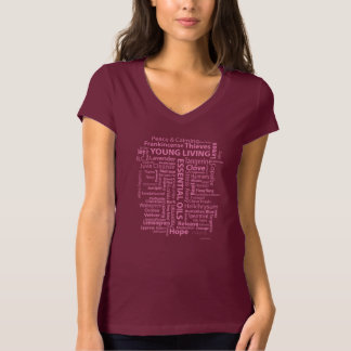 Essential Oils Ladies T pink T-Shirt