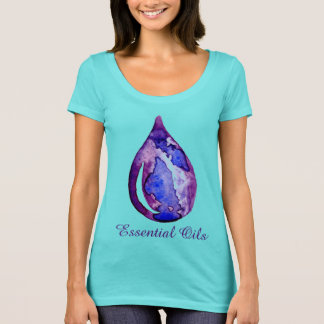 Essential Oils purple and blue T-Shirt