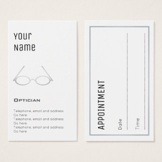 """Essential"" Optician Appointment Cards"