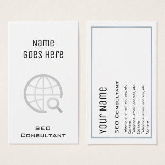 """Essential"" SEO Consultant Business Cards"