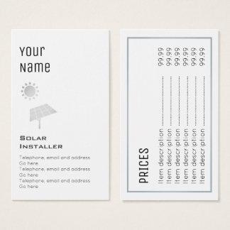 """""""Essential"""" Solar Price Cards"""