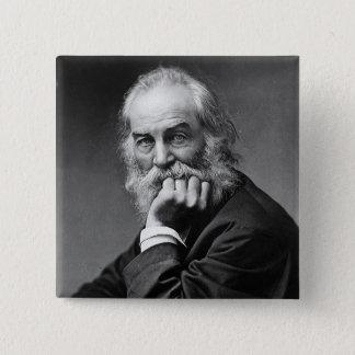 Essential Walt Whitman Portrait 2 Inch Square Button