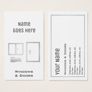 """Essential"" Windows and Doors Business Cards"
